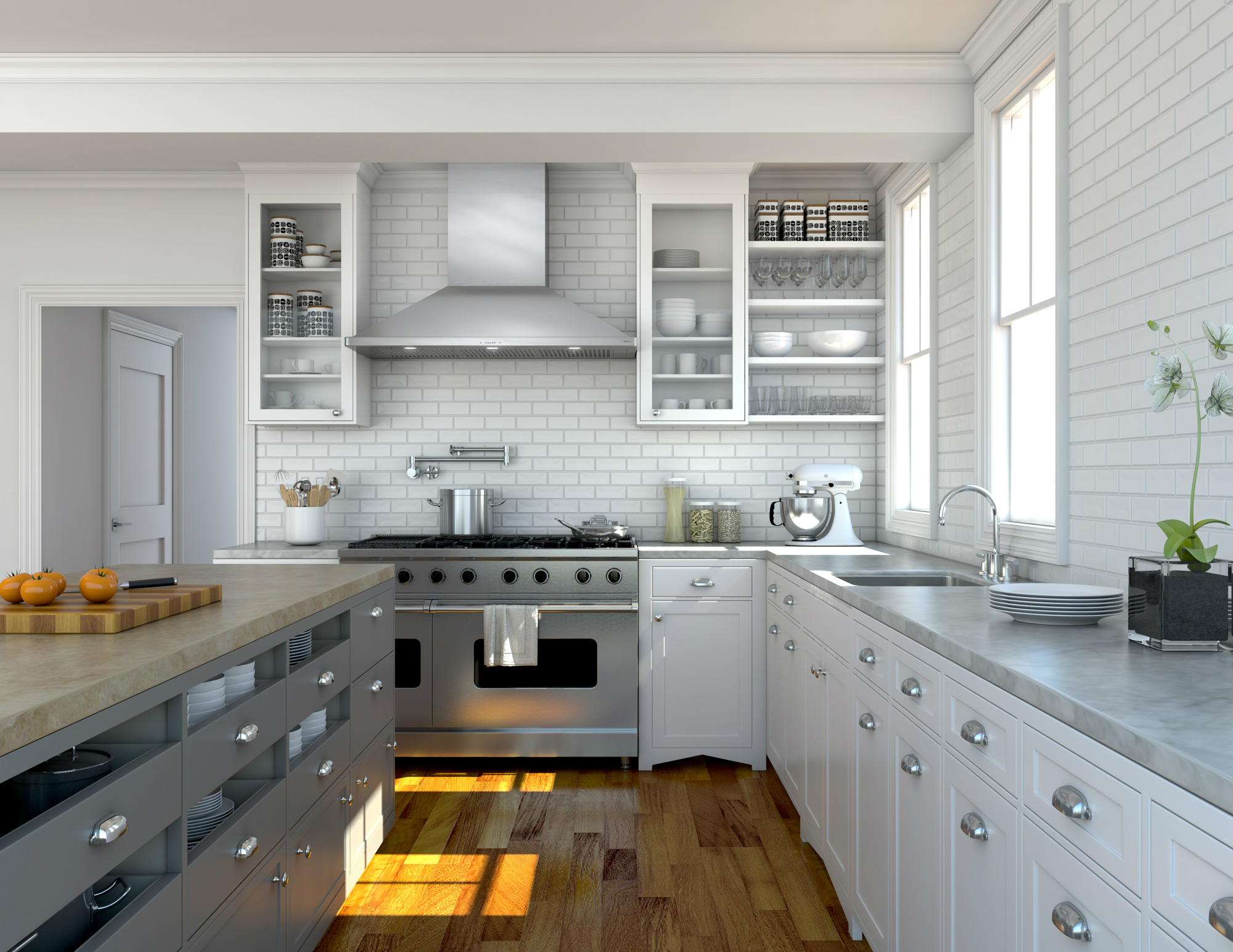 downdraft vs. vent hood - which one is for you? - absolute